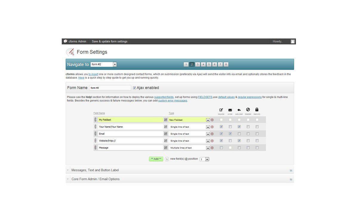 Kleine Helfer: CForms - Mächtiges Formular-Plugin für Wordpress ...