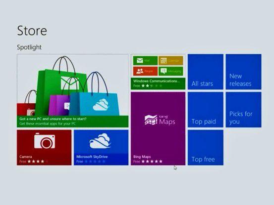 Mit Window 8 kommt PC-Software künftig aus dem App-Store.