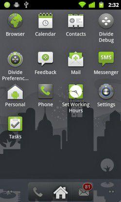 Divide von Enterproid auf dem Smartphone.