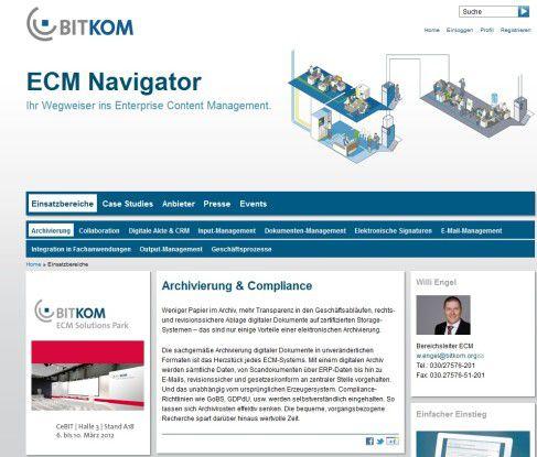 ECM-Wegweiser: Das neue Bitkom ECM-Portal informiert neutral und praxisnah zum Enterprise Content Management.