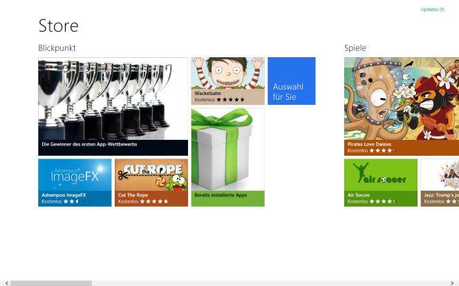 App-Verzeichnis: Der Windows Store soll eine Alternative zu CDs, DVDs und Downloads werden.