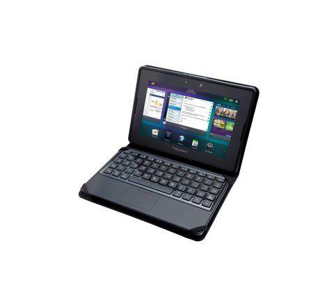 Das Blackberry Mini Keyboard macht das Playbook zum Mini-Notebook.