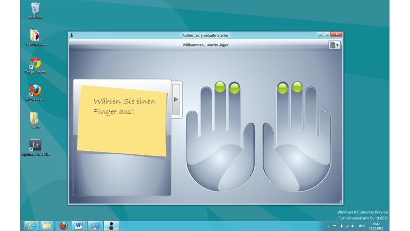 Tag 8: Biometrischer Zugang statt Passwort: Das Windows-8