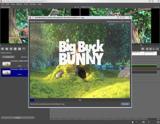 VLMC - Open-Source-Software für Videoschnitt.