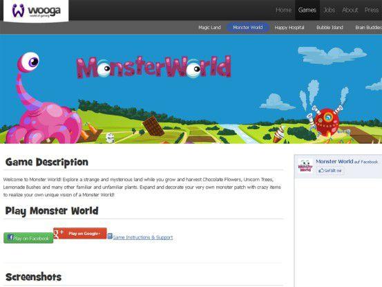 Die Daten von Social Games wie Monsterworld speichert Wooga schon immer in der Cloud.
