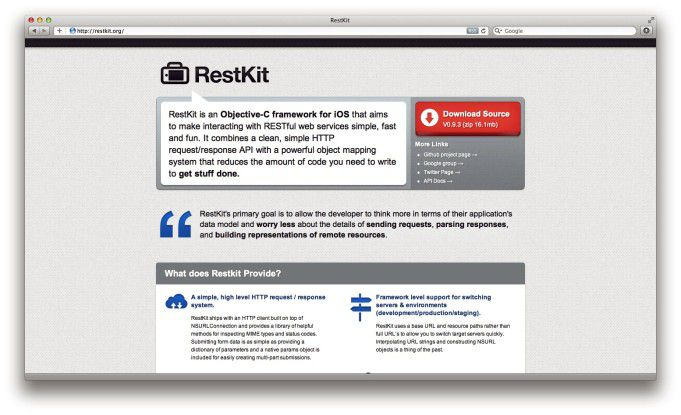 RestKit - Solides Fundament für Cloud-basierende iOS-Apps.