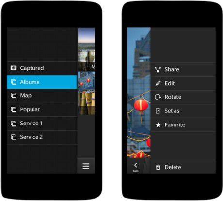 Das Cascades-Framework demonstriert die Navigation in künftigen BB10-Apps.