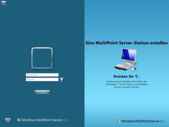 Mehrere Benutzer arbeiten an einem PC? Microsofts Multipoint Server macht's möglich.