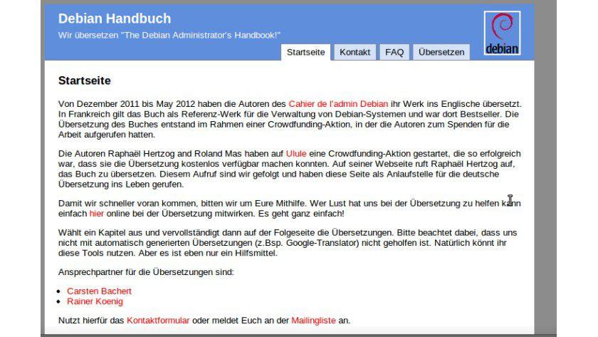 Für Administratoren: Das Debian-Handbuch soll nun auch in Deutsch übersetzt werden.