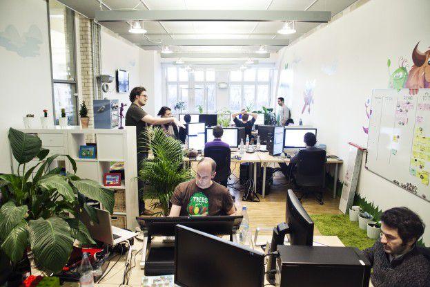 Blick ins Büro der Spieleschmiede Wooga in Berlin.