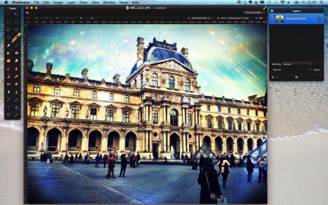 Pixelmator bringt Bildbearbeitungs-Basics für den Mac.