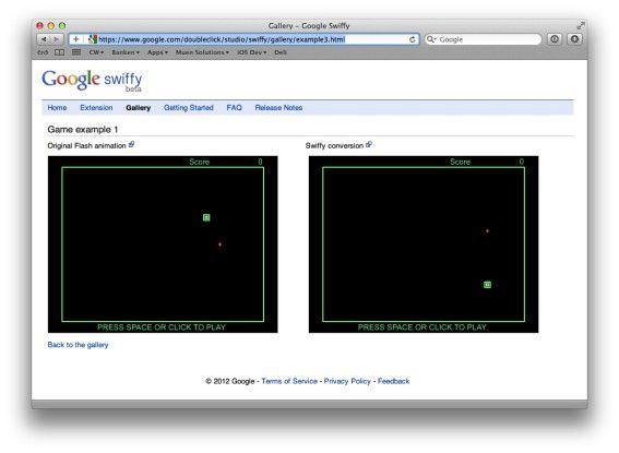 Flash-Inhalte nach HTML5 konvertieren mit Swiffy.