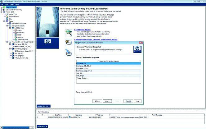 Assistenten machen die Konfiguration des HP-Speichers einfach.
