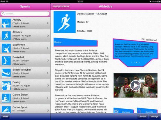 """Mit """"Olympic Spogger"""" kann man sich einen individuellen Zeitplan für seine Lieblingsdisziplinen zusammenstellen."""