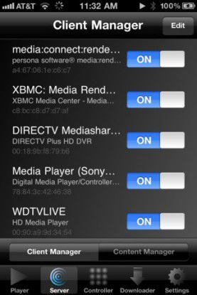 DLNA-App für das iPhone: media:connect