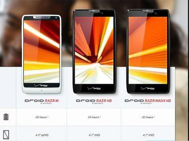Neue RAZR-Smartphones von Motorola