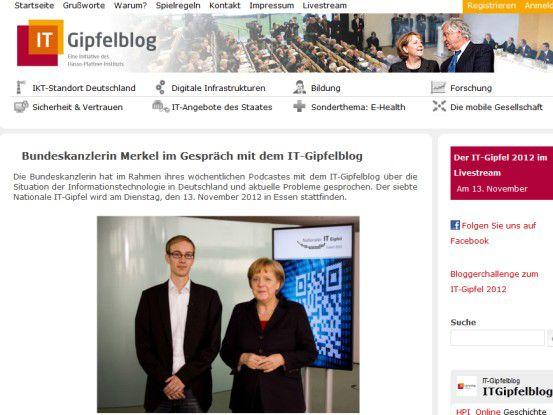 Bundeskanzlerin Angela Merkel stellte sich den Fragen der HPI-Studenten.