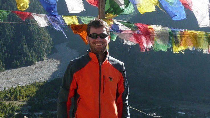 Volker Dirksen, Leiter der Corporate IT von Axel Springer, kann auch in den höchsten Bergen gut entspannen.