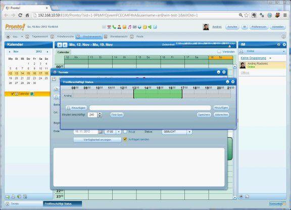 Pronto! ist ein vollwertiger Client von Email über Groupware bis hin zu IP-Telefonie, der direkt im Browser läuft sowie auf vielen Desktop-Betriebssystemen installierbar ist.