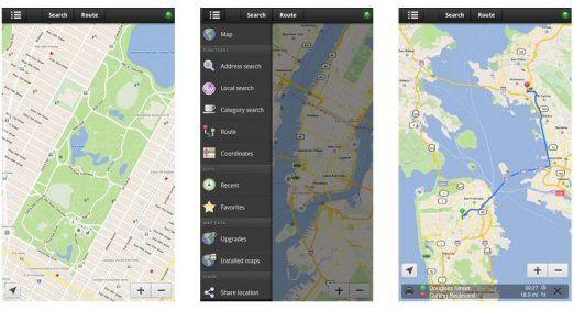 Forevermap2 für Amazon Kindle Fire.