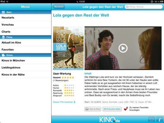 """Mit """"Kino DE"""" bietet sich eine einfache App, mit der Anwender immer genau wissen können, wann, welche Filme in jedem Kino laufen – genau das richtige Tool für Anwender, die ihr Kinovermögen nicht dem Zufall überlassen möchten."""