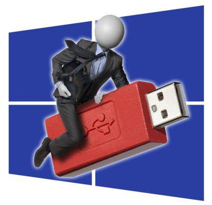 Bei der Enterprise Edition können Sie Ihr Windows 8 einfach mitnehmen und mit Ihrem gewohnten Desktop arbeiten.
