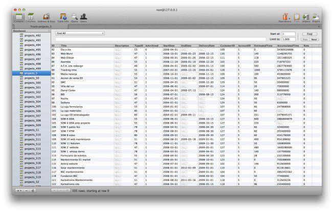 Querious bietet alle Standardfunktionen, auf die selbst fortgeschrittene Anwender bei der täglichen Arbeit mit MySQL-Datenbanken nicht verzichten können.