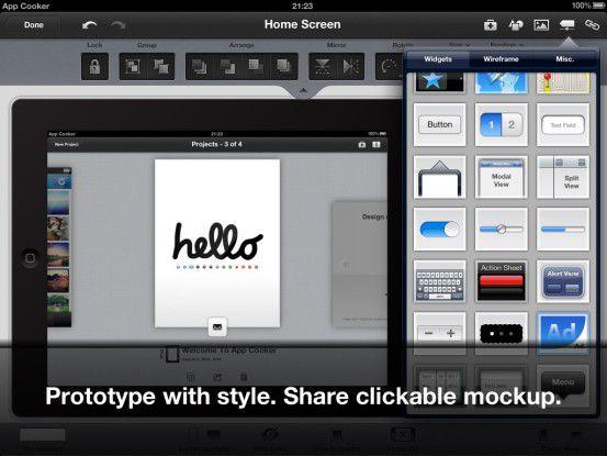 Mit App Cooker funktioniert App-Entwicklung nun auch auf dem iPad.