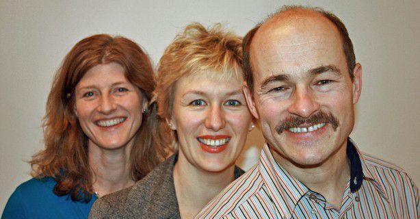 Die Redakteure Hans Königes, Alexandra Mesmer und Karen Funk (v.r.)führen Sie an den sechs CeBIT-Tagen durch das Programm.