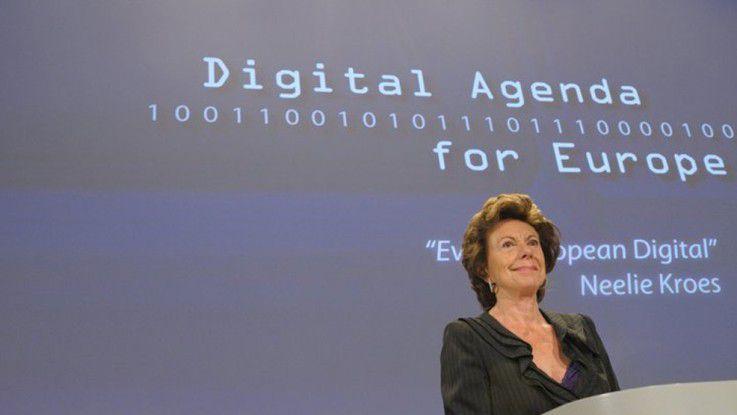 Neelie Kroes, Vizepräsidentin der EU-Kommission und zuständig für die digitale Agenda