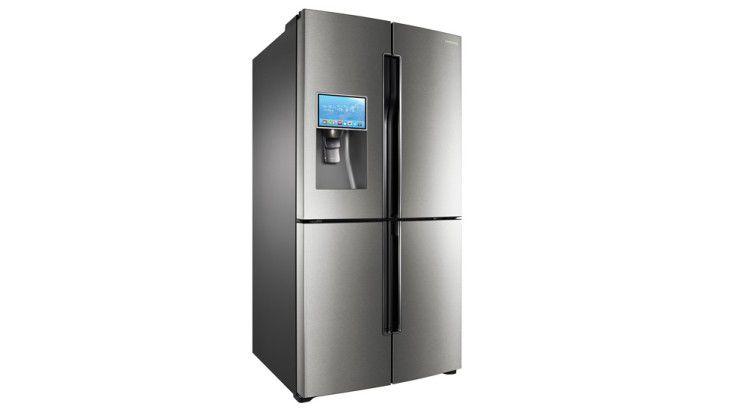 """Kühlschränke standen schon häufiger im Mittelpunkt beim Thema """"Internet der Dinge"""". Der T9000 von Samsung kann zum Beispiel mit dem Internet verbunden werden."""