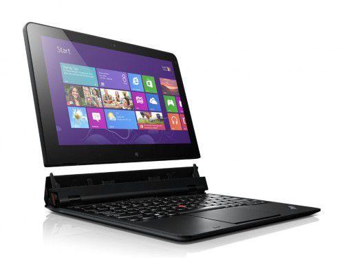 Extrem variabel: Das Thinkpad Helix mit abnehmbarer Tablet-Einheit.