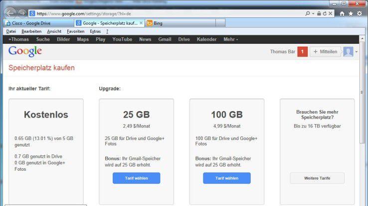 Google Drive funktioniert nach dem Fremium-Modell.