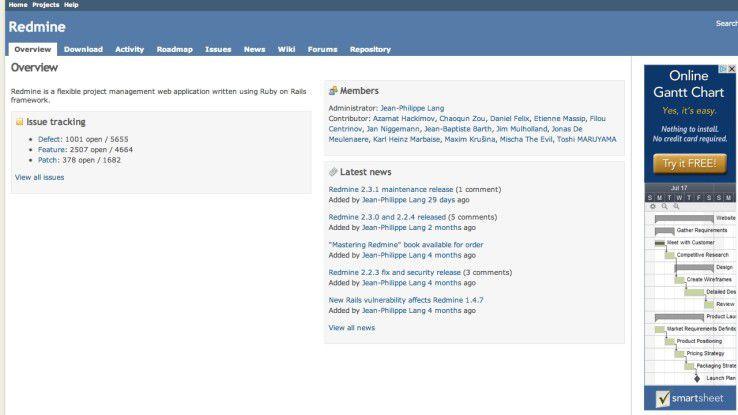 Redmine ist ein extrem flexibles Projekt-Management-System aus dem Open-Source-Lager.