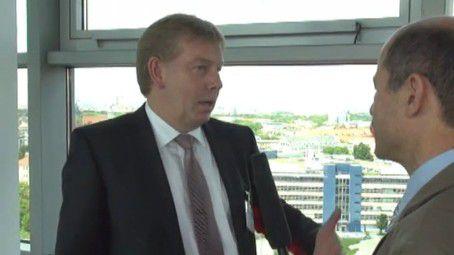 Stefan Frohnhoff, Emagine (links), im Gespräch mit Hans Königes, COMPUTERWOCHE.