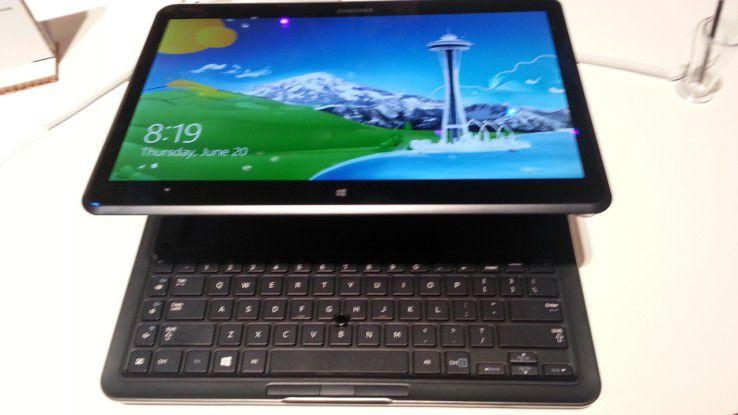 Das Ativ Q ist Tablet und Notebook in einem.