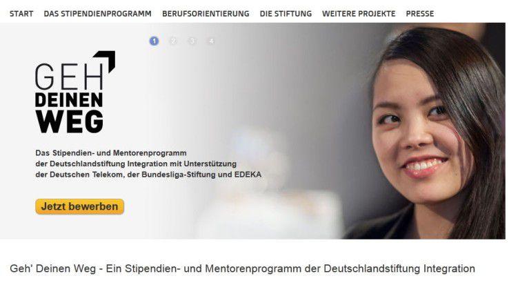 """""""Geh Deinen Weg"""" ist eine Initiative der Deutschlandstiftung Integration."""