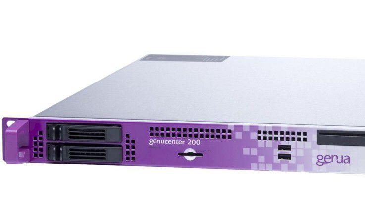 Die genucenter 200 ist die kleinste Appliance und bietet Anschlüsse für bis zu sechs Geräte.