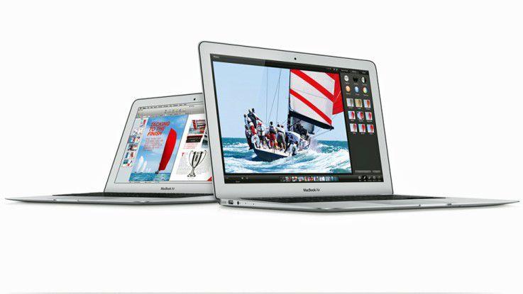9,8 Millimeter dünn ist das Macbook Air 13 und 1344 Gramm leicht