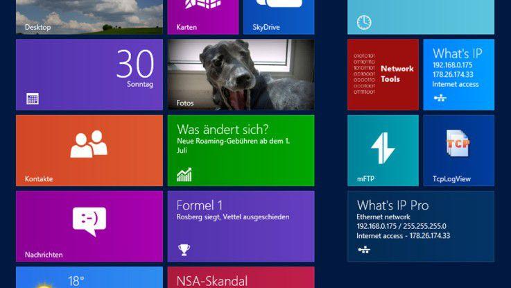 Angepasst: Eine Reihe von Netzwerk-Tools arbeiten bereits auf der neuen Oberfläche von Windows.