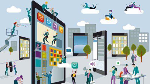 Mobile IT stellt IT-Chefs vor verschiedenste Herausforderungen.