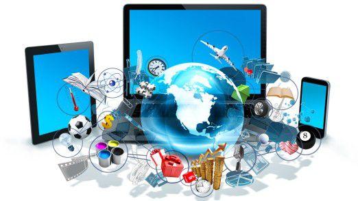 Ungleiches Trio: Auf Tablet und Smartphone spielt Windows bislang kaum eine Rolle.