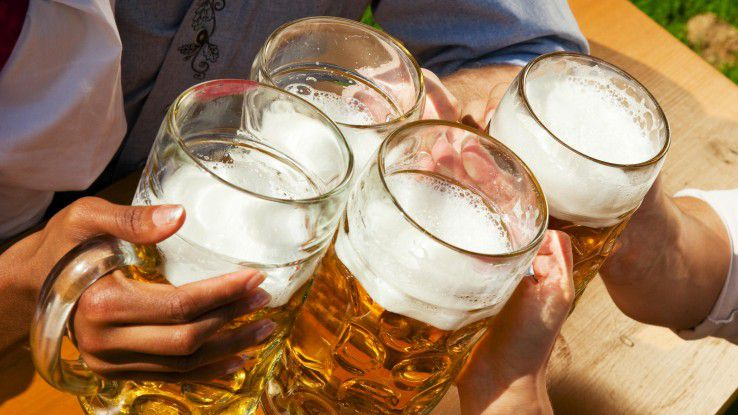 Arbeiten und Bier trinken? In München geht beides zusammen, zumindest während des Oktoberfests.