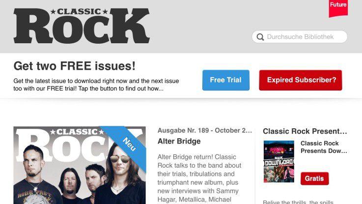 Die Viewer-App bietet alle Funktionen zum Lesen, Kaufen, Abonnieren und Herunterladen von digitalen Zeitschriften.