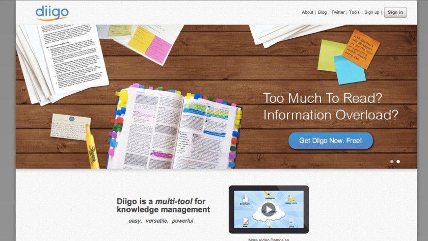Das Web im Griff: Diigo ist eine Informationsmanagement-Lösung, die eine Alternative zu Evernote darstellt.