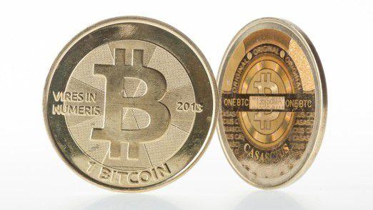 Bitcoin-Münze (Rendering mangels Realität)