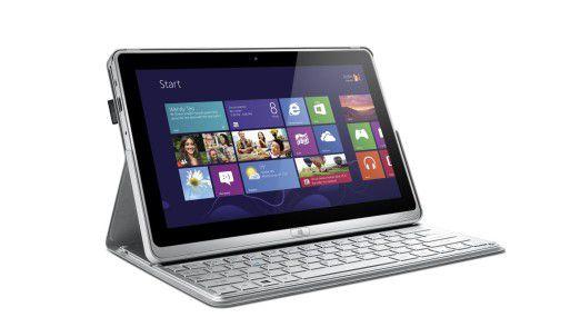 Flexibel: Das Touch & Type-Ultrabook Acer TravelMate X313 mit Intel Core i5-Prozessor, Windows 8 Pro sowie Bluetooth-Tastatur kann auch als Tablet genutzt werden.
