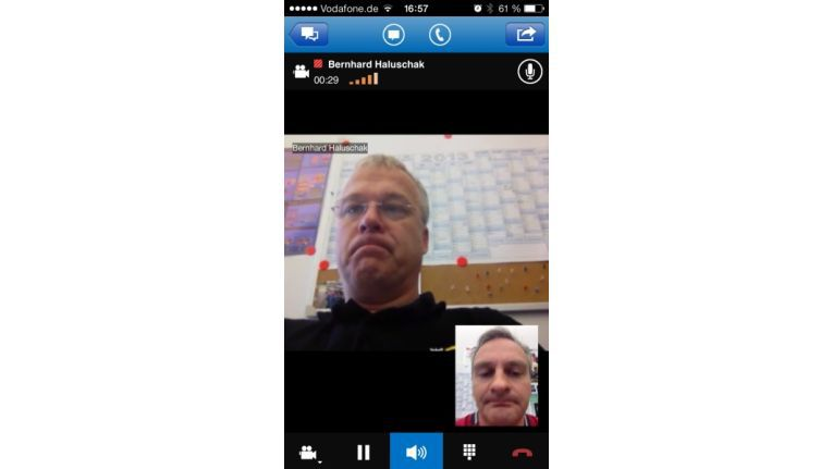 Microsoft Lync kann auch Videokonferenzen.