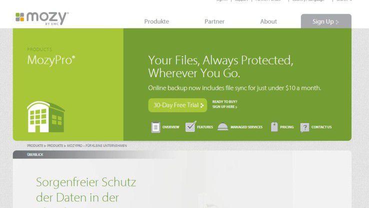 Die Neuerungen sollen den Mozy-Cloud-Backup-Dienst auch für Großunternehmen interessant machen.