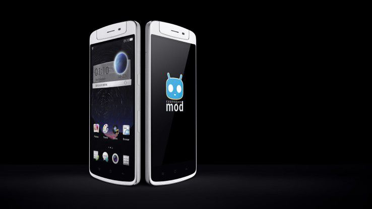 Oppo N1 - smartphone mit drehbarer Kamera.